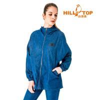 【hilltop山頂鳥】女款吸濕排汗彈性牛仔外套S02FB5-深藍