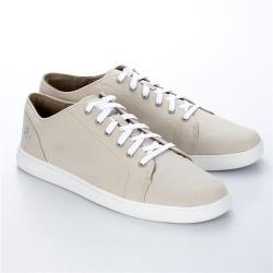 Timberland男款米白色帆布牛津鞋A1PGOF48