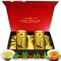 鑫龍源有機茶 有機金萱+功夫茶葉禮盒(100g/罐 共2罐 附提袋)