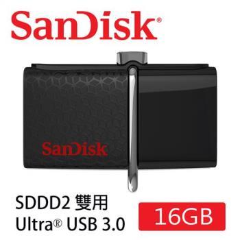 SanDisk Ultra Dual SDDD2 USB3.0 雙用隨身碟 (16G/USB-Micro USB3.0/OTG) [公司貨]