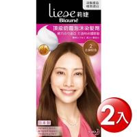 莉婕 頂級奶霜泡沫染髮劑 2P紅銅棕色(2入)