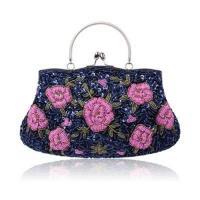 【米蘭精品】晚宴包鏈條手提包-花朵刺繡串珠精緻女手拿包9色73rk18