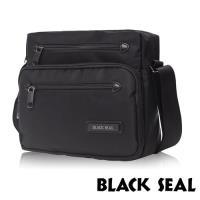 BLACK SEAL 經典休旅系列 橫式斜背/側背包(經典黑 BS83493)
