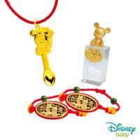 Disney迪士尼系列金飾 彌月金飾印章套組木盒-榜首米奇款-米奇造型印章 0.65錢