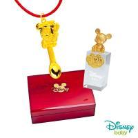 Disney迪士尼系列金飾 彌月金飾印章套組木盒-榜首米奇款-米奇造型印章 0.55錢