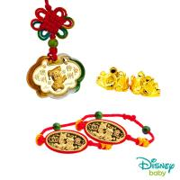 Disney迪士尼金飾 彌月金飾五件式禮盒-聰明伶俐美妮款 0.30錢