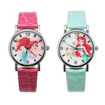 【Disney迪士尼】質感金屬系列手錶 - The Little Mermaid 小美人魚  (兩款任選)