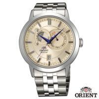 ORIENT東方錶  匠心工藝日月像錶系列藍寶石機械腕錶-米色x41.5mm  FET0P002W0