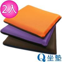 源之氣 竹炭模塑記憶Q坐墊/雙面雙色(三款可選 2入) RM-9465-5