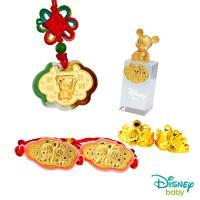 Disney迪士尼系列金飾 彌月金飾印章套組木盒-聰明伶俐米奇款-米奇造型印章 0.55錢