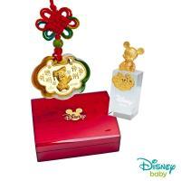 Disney迪士尼系列金飾 彌月金飾印章套組木盒-聰明伶俐美妮款-米奇造型印章 0.15錢