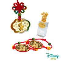 Disney迪士尼系列金飾 彌月金飾印章套組木盒-聰明伶俐美妮款-美妮造型印章 0.25錢