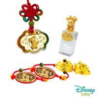 Disney迪士尼系列金飾 彌月金飾印章套組木盒-聰明伶俐美妮款-美妮造型印章 0.35錢