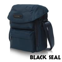 BLACK SEAL 經典休旅系列 多隔層收納6吋平板休閒直式斜背/側背包(午夜藍 BS83495)