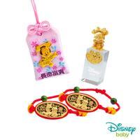 Disney迪士尼系列金飾 彌月金飾御守/印章套組木盒-聰明美妮款-美妮造型印章 0.23錢