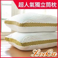 LooCa 時尚版-透氣超釋壓獨立筒枕2入(共3色) -東森森森618特談