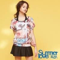 夏之戀SUMMER LOVE 大女長版三件式泳衣S18724