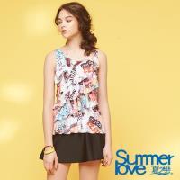 夏之戀SUMMER LOVE  大女長版二件式泳衣S18725
