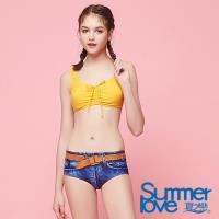 SUMMERLOVE夏之戀 大女牛仔印花短版二件式泳衣S18708