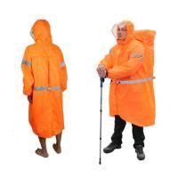PUSH!戶外休閒用品雨衣登山雨衣背包雨衣連體雨衣P104-2橘色XL