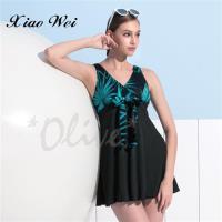 沙麗品牌 時尚流行連身裙泳裝 NO.H18128