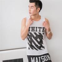Jimmy Wang男生吸排白色WHITE背心