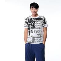 Jimmy Wang男生白色英文塗鴉短袖T恤
