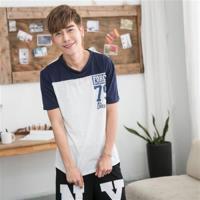 Jimmy Wang 男生灰色79雙面印花短袖T恤