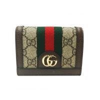GUCCI Ophidia GG 卡夾/零錢包(棕色) 523155