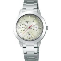 agnes b.全球旅行 世界地圖三眼造型女錶-白 BYU060P1