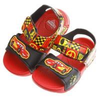 《布布童鞋》Cars閃電麥坤黑紅色賽車風格輕便涼鞋(16~19公分)MIT853D