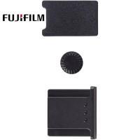 原廠Fujifilm電池蓋+PC同步端子孔蓋+熱靴蓋組CVR-XT