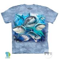 摩達客 (預購)(男童/女童裝)美國進口The Mountain 鯊魚哦耶 純棉環保藝術中性短袖T恤