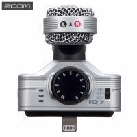 日本ZOOM立體聲收音錄音麥克風iQ7(錄44.1kHz、48kHz/16bit;TRS監聽耳機孔3.5mm,適Apple蘋果iPhone iPad)