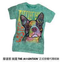 摩達客 美國進口The Mountain 彩繪愛波士頓梗犬 純棉環保短袖T恤