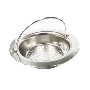 PUSH! 廚房用品 提籃式不鏽鋼水槽濾網HD1011