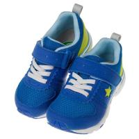 《布布童鞋》Moonstar日本藍色窄楦兒童機能運動鞋(15~19公分)I8A965B