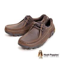 Hush Puppies 多功能耐磨黃金大底休閒男鞋-兩色(深咖啡、黑)