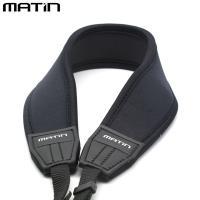 韓國製造MATIN防滑彈性DSLR單眼相機減壓背帶 減壓相機背帶M-6780(黑色,彎型,無字樣)