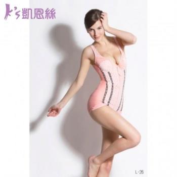 Ks凱恩絲 清涼水晶紗塑身衣(罩杯連身三角款) 2件組