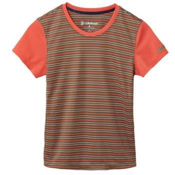 【Wildland 荒野】中童涼感圓領抗UV條紋上衣共5色