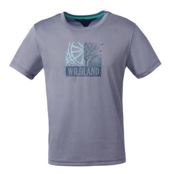 【Wildland 荒野】男咖啡紗抗菌抗UV印花上衣共4色