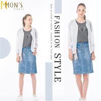 MONS個性長版時尚薄罩衫