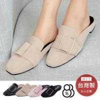 88%包頭懶人拖鞋率性簡約扣環造型2cm鞋跟