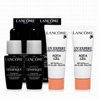 LANCOME蘭蔻 超進化肌因賦活露7mlx2+超輕盈UV水凝露10mlx2