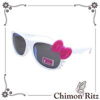 【Chimon Ritz】帥氣貓兒童太陽眼鏡/墨鏡-白