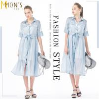 MONS冰絲精緻歐根紗二件式洋裝/長罩衫