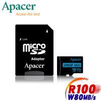 Apacer宇瞻 128GB MicroSDXC R100/W80MB UHS-I U3 V30 4K記憶卡