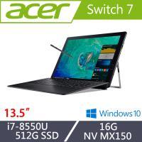 Acer宏碁 Switch 7 觸控獨顯筆電 SW713-51GNP-80B2 13.5吋/i7-8550U/16G/512G SSD/MX150
