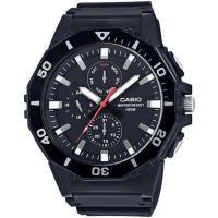 CASIO DIVER LOOK潛水運動風百米防水腕錶 (黑)_MRW-400H-1A